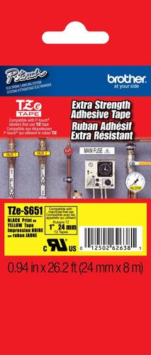 cinta brother industrial tze-s651 de (24 mm x 8m)