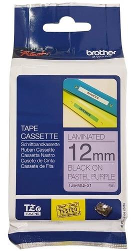 cinta brother p/ rotuladoras tze-mqf31 fondo purpura pastel