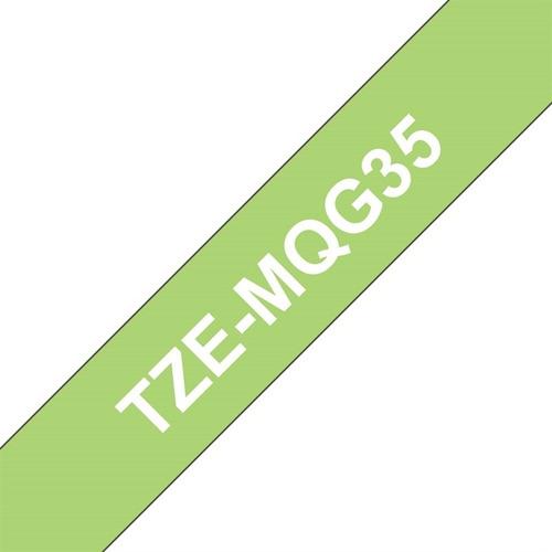 cinta brother p/ rotuladoras tze-mqg35 fondo verde lima