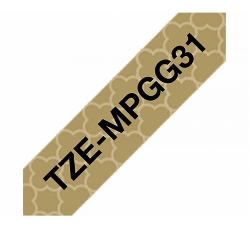 cinta brother p/rotuladora tze mpgg31 negro/dorado c/diseño