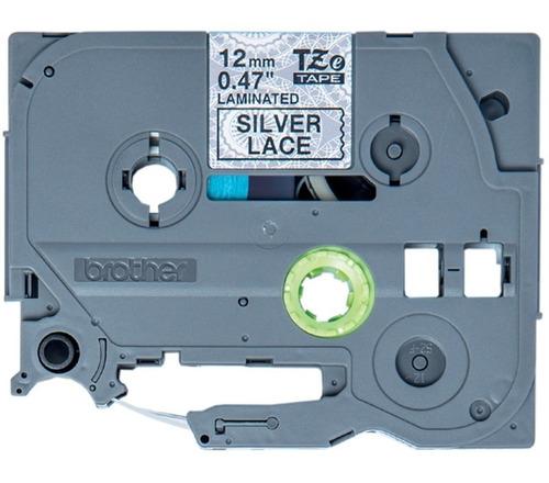 cinta brother p/rotuladora tze mpsl31 negro/plata c/diseño