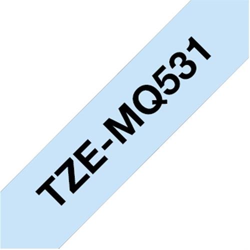 cinta brother p/rotuladoras tze-mq531 fondo celeste pastel