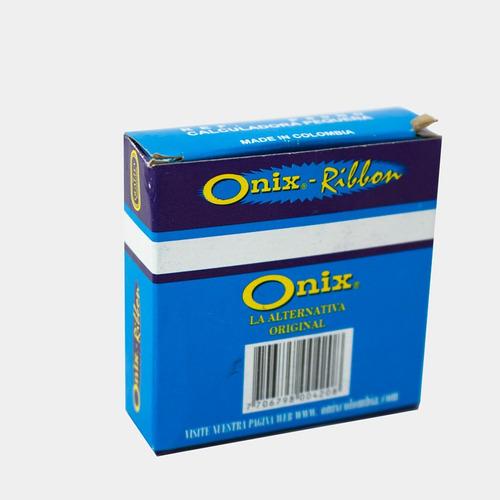 cinta calculadora carrete pequeño bicolor onix
