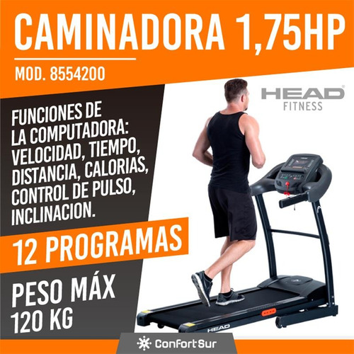 cinta caminadora motorizada head 8554200 1.75hp incl **8