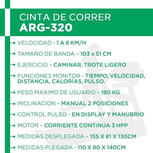 cinta caminadora randers 320 soporta h/180kg c/ motor 3hpp