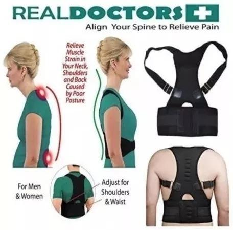 cinta colete corretor postura coluna lombar reforçada