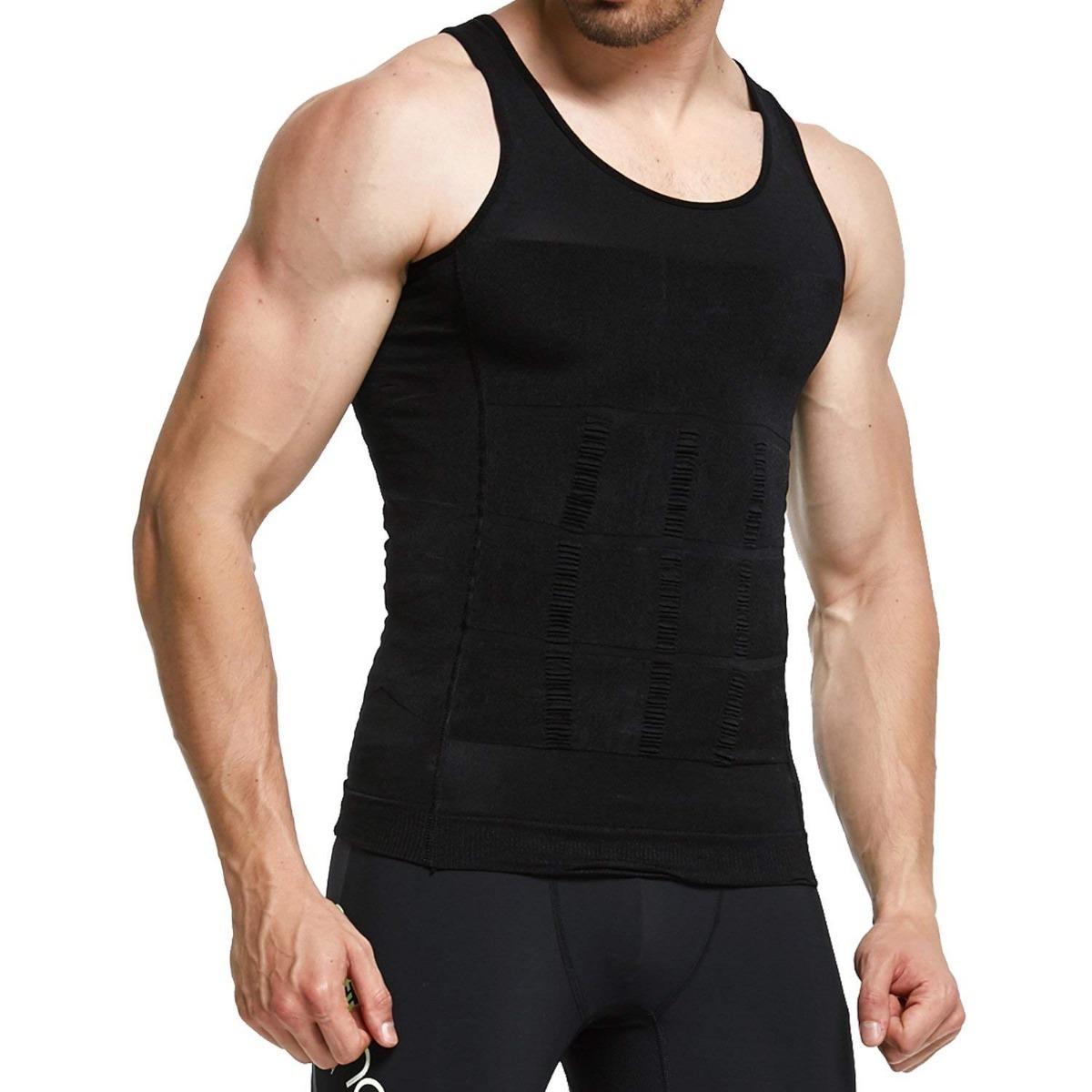 cinta compressão colete redutor e postural fitness masculina. Carregando  zoom. a5d339ee8c6