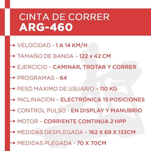 cinta correr caminadora randers arg460 inclin electric 2hpp