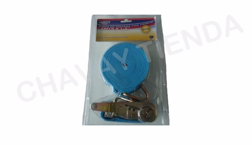 cinta de amarre con crique 6 mts x 1,5 pulgadas reforzada