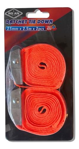 cinta de amarre con hebilla 2.5mts 25mm x2 (no envios)