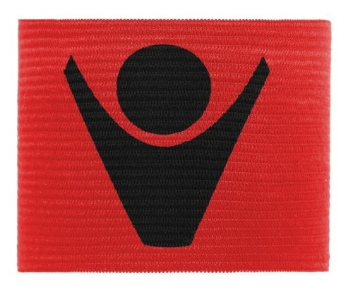 cinta de capitan con elástico-  color rojo- macron