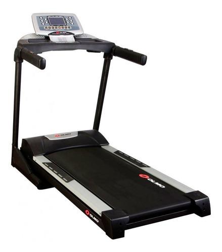 cinta de correr eléctrica olmo fitness 37 220v negro/plateada
