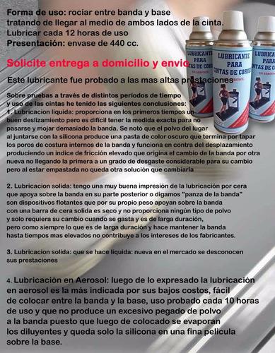 cinta de correr lubricante aerosol silicona 12 un servicegym