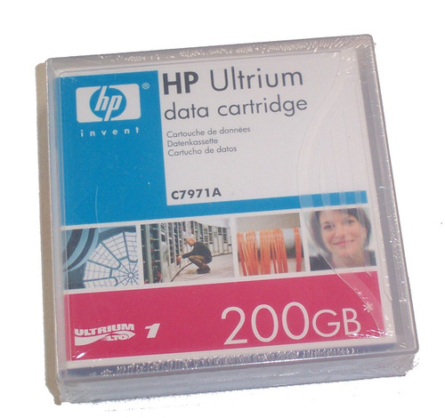 cinta de datos hp lto 1 ultrium 200gb c7971a