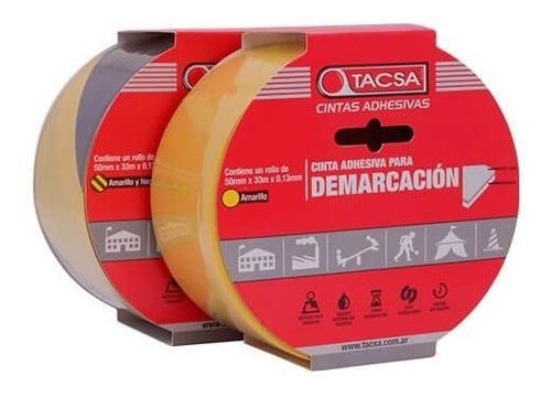 cinta de demarcacion amarillo/negro amarilla 33m x50mm tacsa