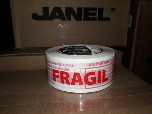cinta de emapaque fragil impresa roja 48x150
