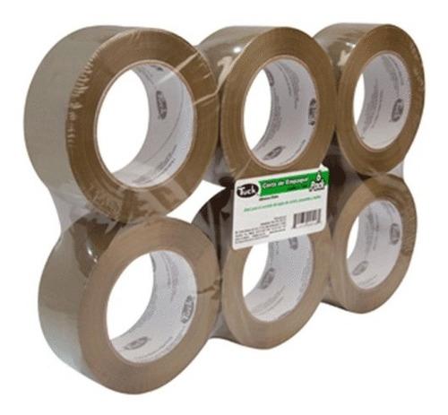 cinta de empaque canela y transparente 48mm x 50mts.