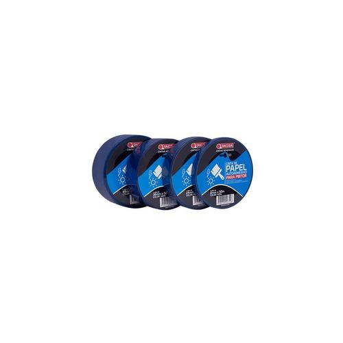 cinta de enmascarar papel 12 mm x 50 m tacsa azul pintor
