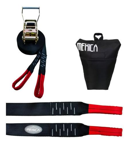 cinta de equilibrio - slackline kit (25mt) - mexica