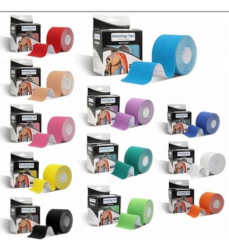 cinta de kinesiología deportes fitness kinesiotapes muscular