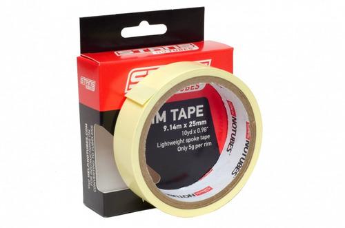 cinta de llanta amarilla - rim tape notubes 9.14m x 25mm