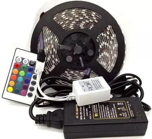 cinta de luces led rgb 5050 5 mts kit completo