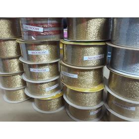 Cinta De Lurex Brooklyn Nro.9 40mm,oro Y Plata Lote 22cintas