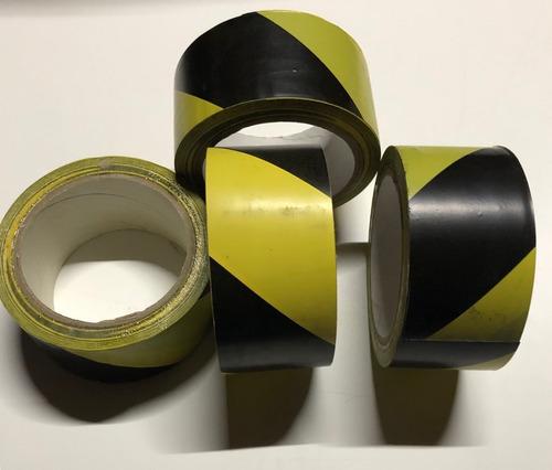 cinta de marcaje amarillo con negro precaucion pisos riesgo