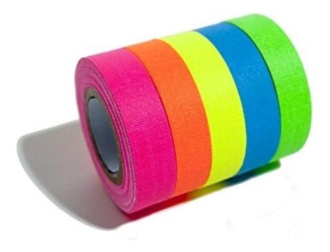 cinta de neón fluorescente pack x 5 unidades