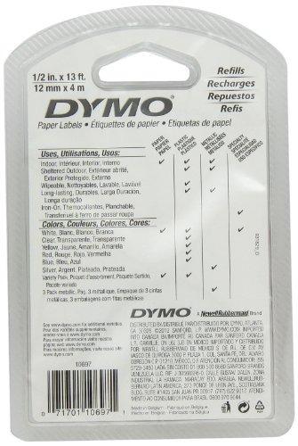 cinta de papel autoadhesiva para crear rótulos dymo 10697 de