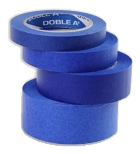 cinta de papel azul enmascarar p/ pintor 24 mm doble a mm