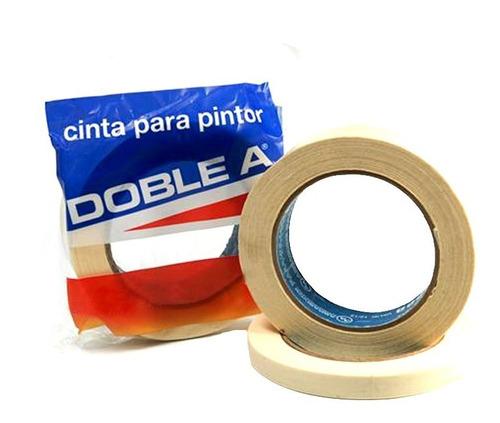 cinta de papel enmascarar p/ pintor 18 mm doble a pintumm