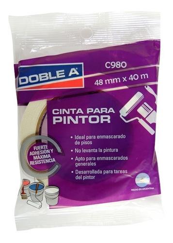 cinta de papel enmascarar p/ pintor 48mm doble a - prestigio