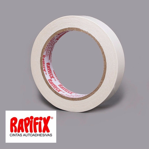 cinta de papel enmascarar rapifix 18mm x 50m caja 48 rollos