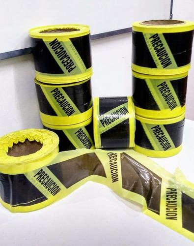 cinta de peligro doble faz 200 metros exelente calidad.