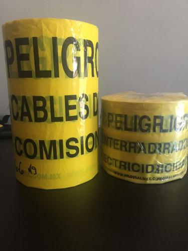 cinta de precaución peligro alta tensión de 30 cm de cfe