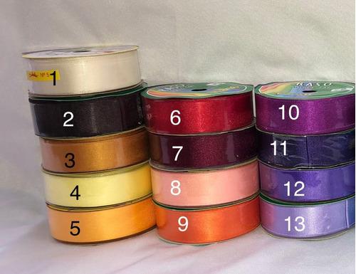 cinta de raso n° 5 rollo x 10 mts - varios colores - once
