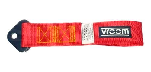 cinta de remolque corta 25cm competición rojo vroom