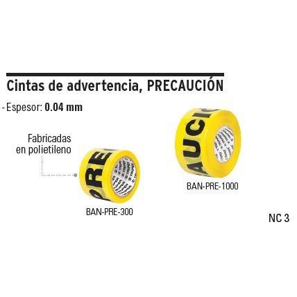 cinta de señalizacion precaucion 304m truper cod: 8040405
