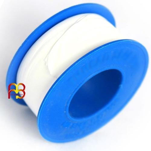 cinta de teflon 1/2 pulgadas media densidad 10 metros unidad