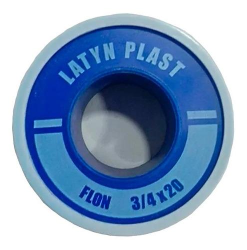 cinta de teflon de 3/4 x 20 mts riego estándar latyn plast