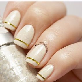 Cinta Decorativa Uñas Dorada Nail Art Decoracion Accesorios