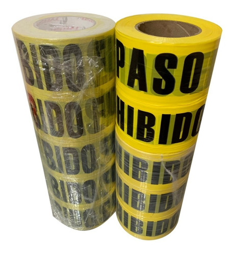 cinta delimitadora 300 mts peligro precaución prohibido paso