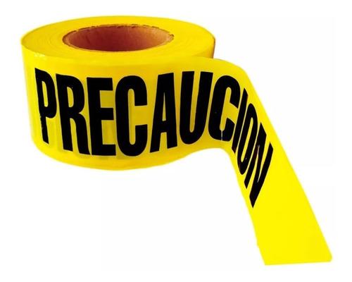 cinta delimitadora amarilla precaución 305 mts