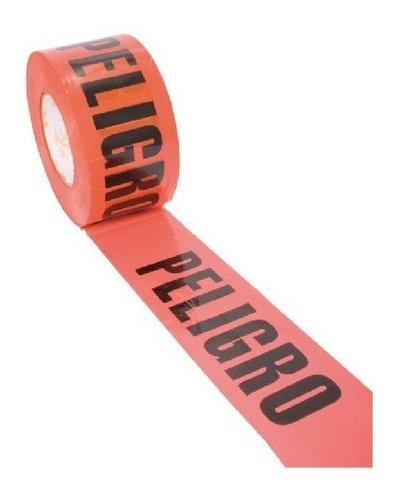 cinta delimitadora roja con leyenda peligro jyrsa
