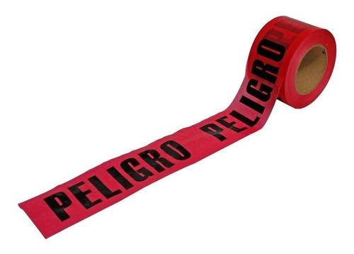 cinta delimitadora roja peligro