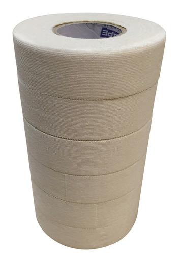 cinta deportiva cinta de hockey blanco, 6 rollos, 1 pulga