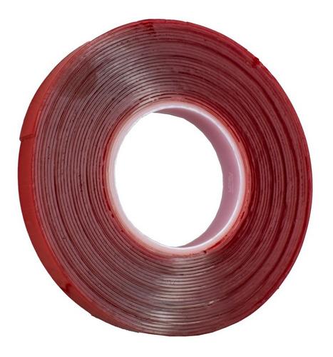 cinta doble cara transparente industrial 1 cm x 5 metros