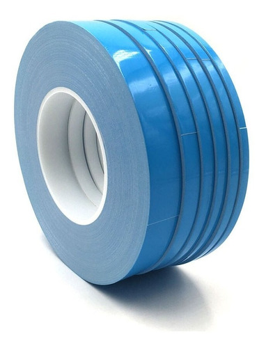 cinta doble faz 10mm termica bifaz tv backlight led azul 25m