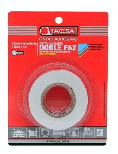 cinta doble faz adhesiva  tacsa 18mm x 2 mts